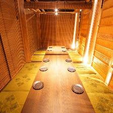 プライベートな個室空間!