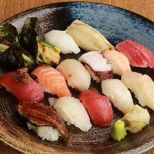 新鮮なネタを使用した握り寿司88円~