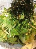 水菜とお豆腐のサラダ