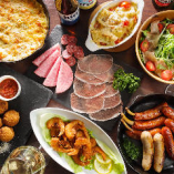 人気の「ゴルフ宴会コース」は、2時間飲み放題付き全8品のお料理に、1.5時間ゴルフ遊び放題がセット!