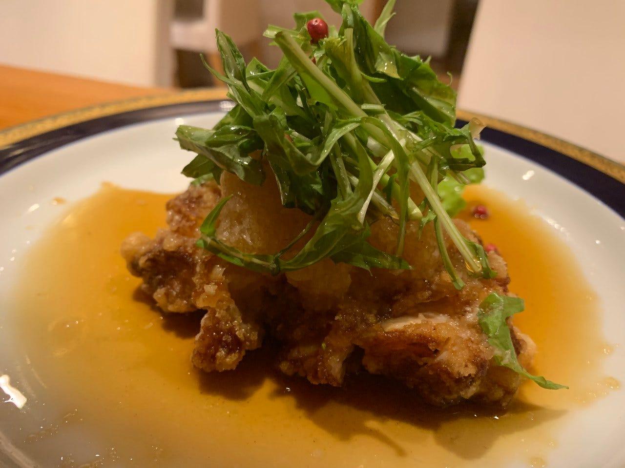 若鶏の竜田おろしポン酢