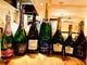 シャンパーニュ・ワインもグラス、ボトルでご用意しております