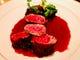 北海道産エゾシカのフィレ肉のローストです。当店人気の1品