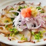 生蛸炙りポン酢