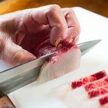 納得した質・鮮度をダイレクトに味わえる刺身はまさに極上の逸品。
