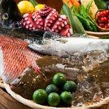 季節ごとに最良の産地から仕入れた旬の海の幸をご提供いたします。