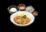 生姜炒め定食