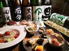 ゆったりこだわりの日本酒を堪能