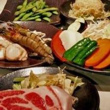 お得な食べ放題コース1,830円【東長崎 ステーキ 居酒屋 鉄板焼き 肉 お好み焼き 宴会 飲み会】