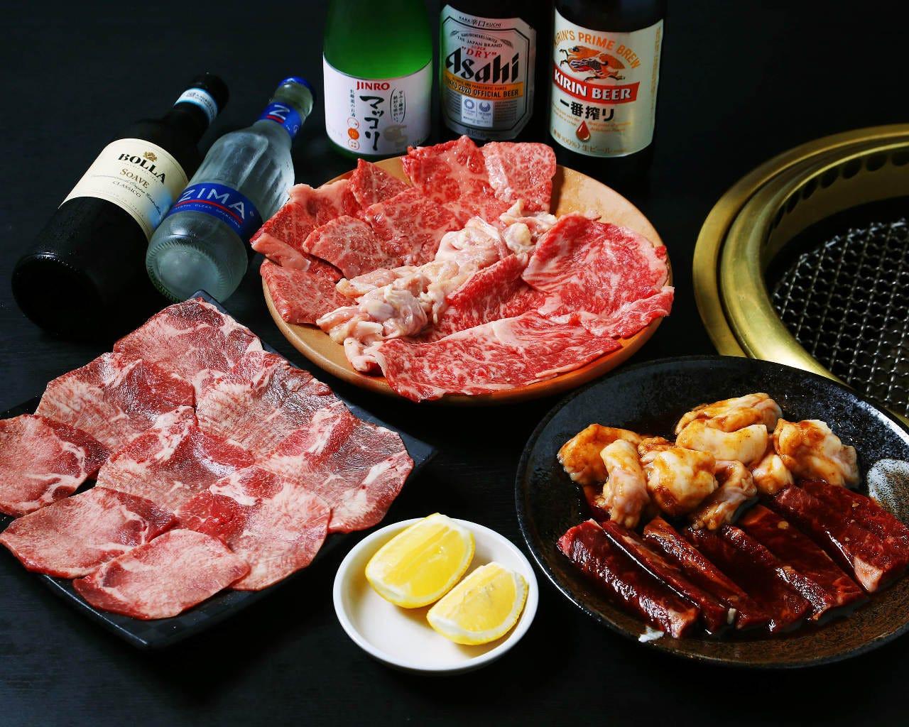 焼肉牛ちゃんのメニューがお得に食べられるコースも人気です