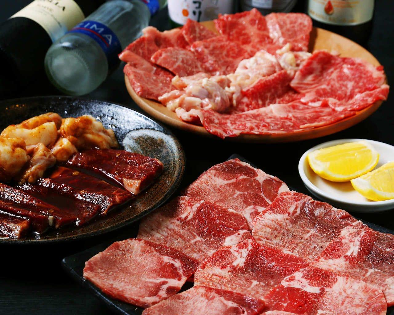 【飲み放題90分付き】焼肉コース 4,000円(税抜)