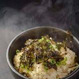 〆の新定番!ネギ飯。塩ダレと白米とネギと海苔と・・・絶妙です。