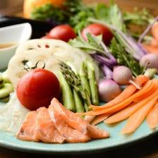 本日のお魚と産直野菜のカルパッチョ