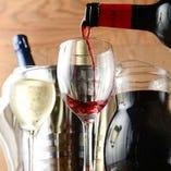 ハウスワインはなみなみ注ぎます!