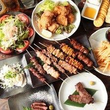 串焼き・肉好き女子会なら「まる八」