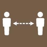 ◆ソーシャルディスタンスの確保と換気 テーブル席は間隔を空けてご案内します