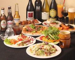 おいしい料理が勢揃いのパーティーコースです。