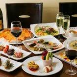 おいしい料理が勢揃いのパーティーコースです。ご宴会に最適☆