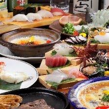 【お料理のみ】お刺身、焼物、天ぷらなど自慢の料理をご堪能する季節の宴会コース3,850円より