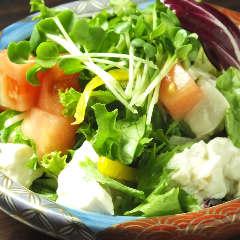 前菜 (豆腐のサラダ)
