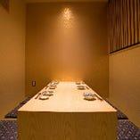 上品な空間で楽しんで頂きたい個室席