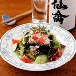 ズワイガニと海藻のサラダ