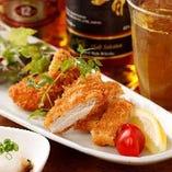 国産若鶏もも肉とむね肉のカツ おろしポン酢添え【栃木県】