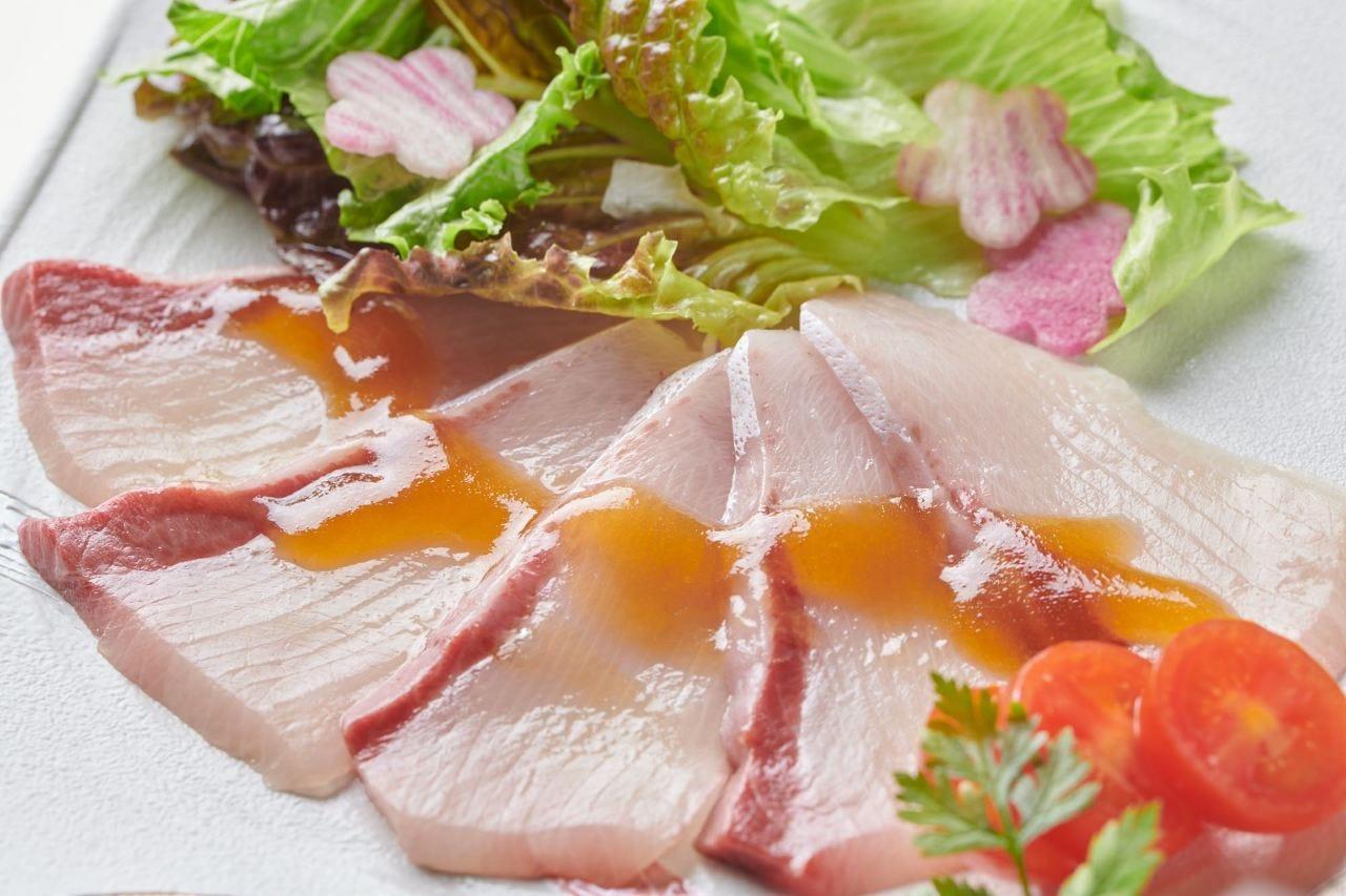 お口の中でとろける食感…前菜におすすめ〈寒鰤のカルパッチョ〉