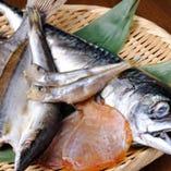魚を各地より直送する『自家製干物』