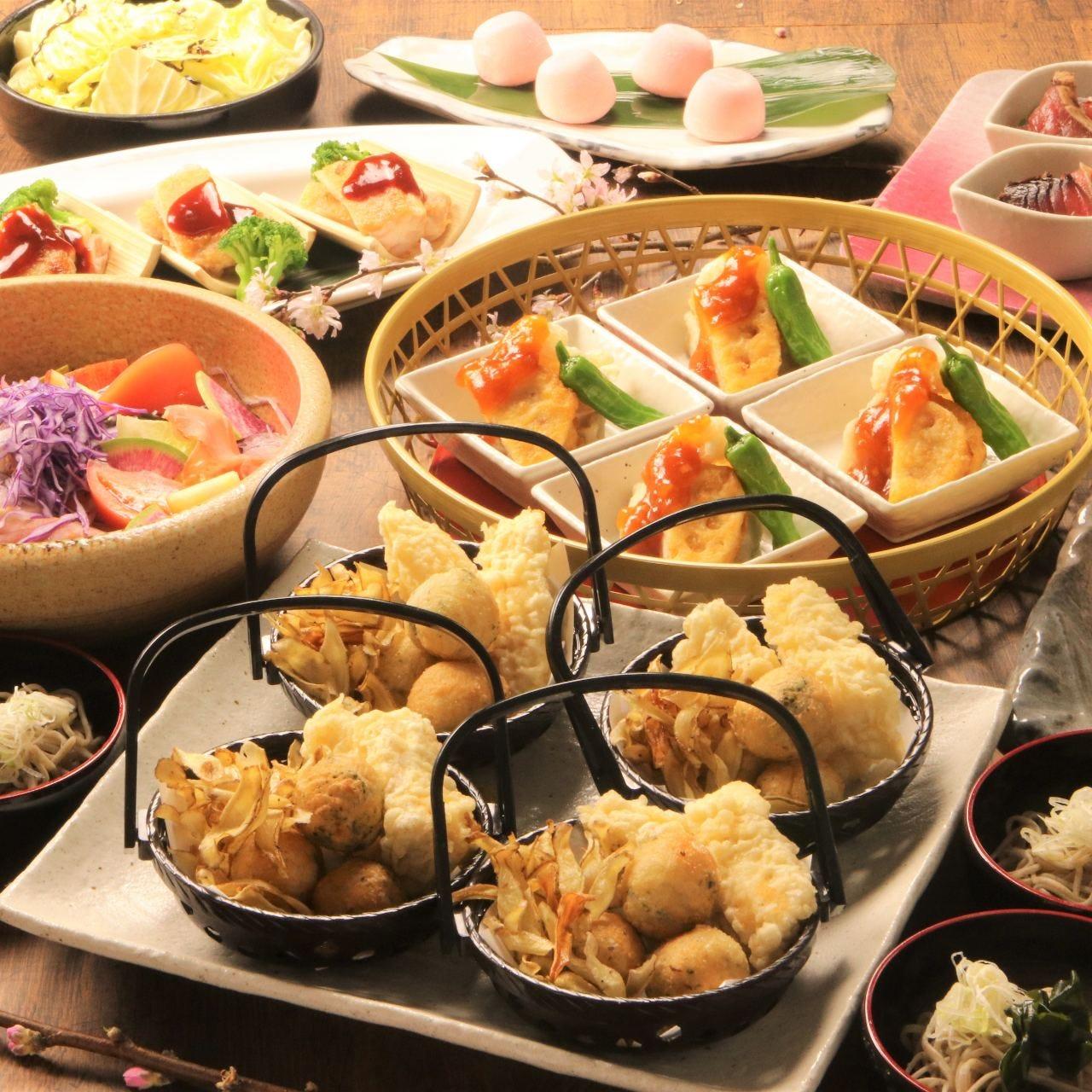 【寧々家のコース】料理9品+2時間飲み放題付3,500円(税込)