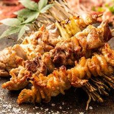 鶏串焼き(塩or秘伝の壺漬け)