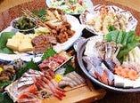 宴会料理 *写真は鍋コース 飲み放題付(一人)5500円