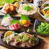新鮮な旬鮮魚や厳選肉のお料理など多数取り揃えております!