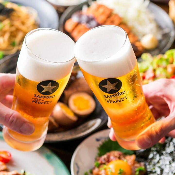 各種ご宴会、軽い接待やご会食に。日本酒飲み放題付のコースも