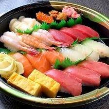 にぎり寿司はテイクアウト承ります!