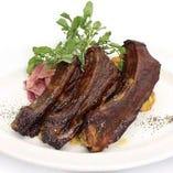 鹿児島県産 茶美豚スペアリブの珍味焼き