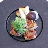 岡山県産 備中高原鶏の炙り焼き 季節の野菜添え