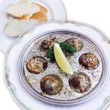 帆立貝とマッシュルームのガーリックバター焼き