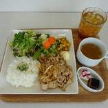 生姜焼きプレート
