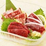 桜肉三種盛り合わせ