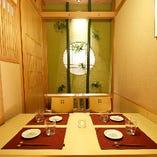 人数に合わせて最適な個室にご案内!和情緒漂う大人の空間です。