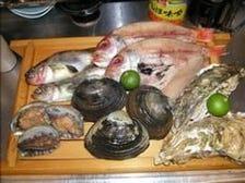 旬の新鮮魚貝にもこだわっています!