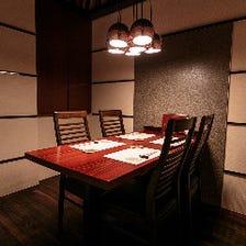 接待を成功に導く完全個室も完備