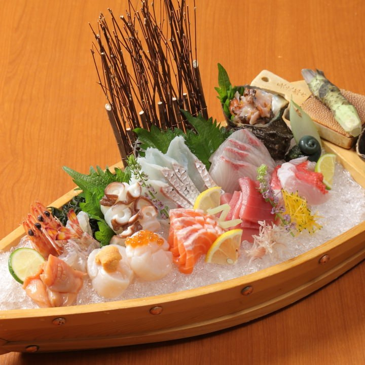 厳選した鮮魚をたっぷり味わえる