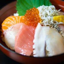 【海鮮丼×七輪焼】