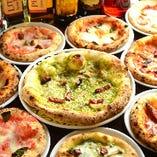 400℃以上の高温でいっきに焼くピザは絶品☆