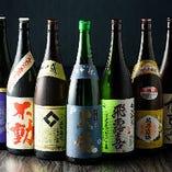 日本酒も各地から取り寄せています。