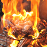 炎の薩摩赤鶏炭火焼 ¥858