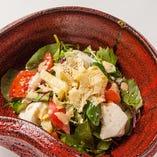 生湯葉と手作り豆腐の胡麻サラダ