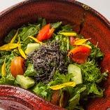 和野菜の塩昆布サラダ